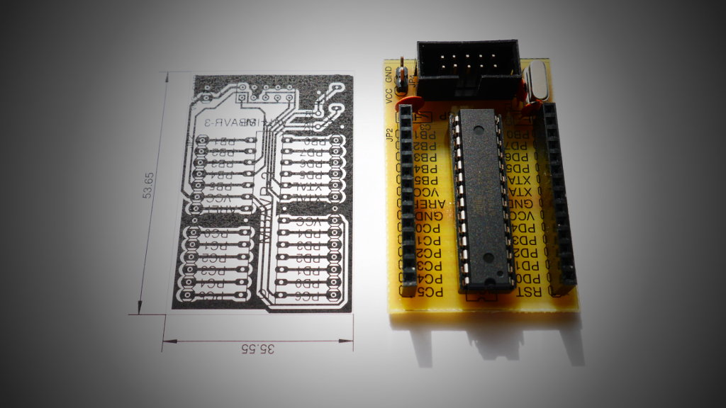 Development board for Atmega8/Atmega328 | Łukasz Podkalicki